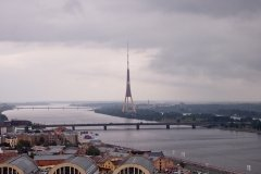 The Riga TV tower viewing platform, Latvia