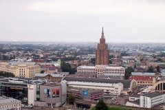 The Latvian Academy of Sciences viewing platform in Riga, Latvia