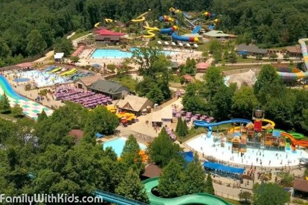 The Holiday World Theme Park & Splashin' Safari Water Park in Indiana, USA