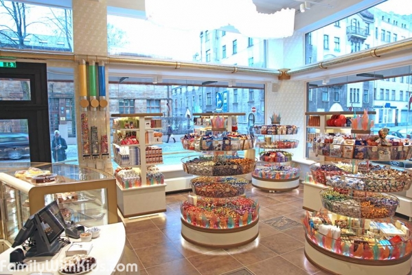 The Laima chocolate museum and a shop in Riga, Latvia