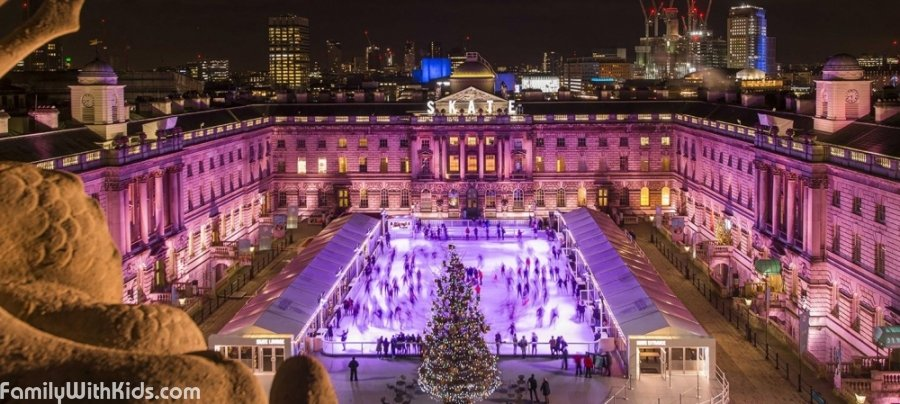 Skate at Somerset House, an ice skating rink in London, UK