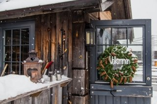 Photo: the Knettsetra Restaurant on a ski slope at Trysil Resort in Norway
